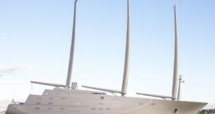 супер яхта миллиардера Sailing Yacht A